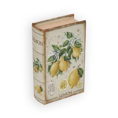 "BBK-01 шкатулка-книга 17 x 11 x 5 см, №057 ""Лимоны"""