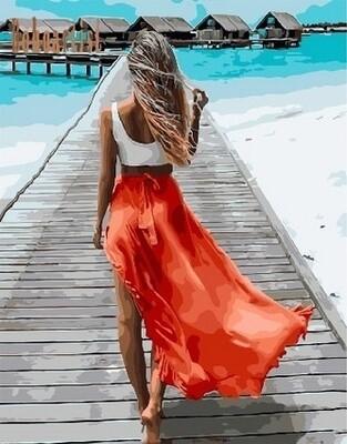 Картина по номерам Paintboy, RDG-3576 Следуй за мной. Мальдивы 40х50см