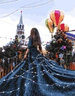 Картина по номерам Paintboy, RDG-3396 Новогодняя Москва 40х50см