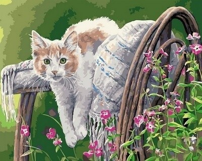Картина по номерам Paintboy, RDG-4262 Котик в саду 40х50см