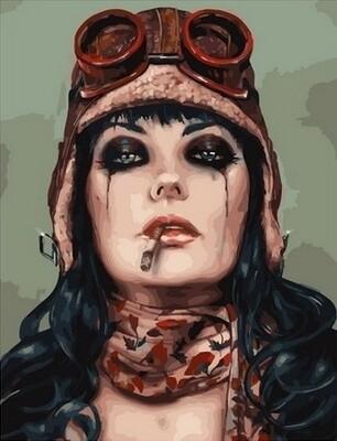 Картина по номерам Paintboy, RDG-4266 Девушка с сигаретой 40х50см