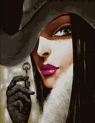 Картина по номерам Paintboy, RDG-4286 Загадочная девушка 40х50см