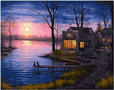 Картина по номерам PK68095 Отблески осеннего заката 40х50см