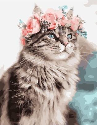 Картина по номерам PK 49018 Весенний кот 40*50