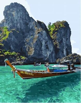 Картина по номерам PK 45059 Тайский пейзаж 40*50