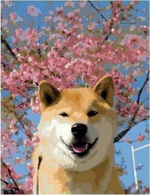 Картина по номерам PK 59077 Весенний пёс 40*50