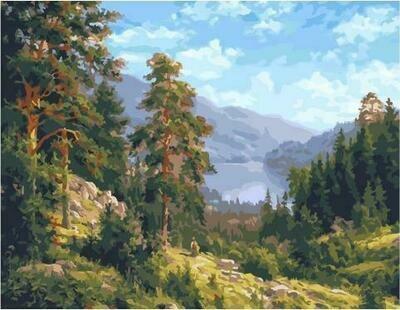Картина по номерам PK 59022 (GX 25629) Воспоминание о Сибири (Басов Сергей) 40*50