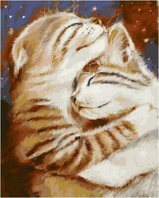 Картина по номерам PK 59010 Мурчу тобою/ Два кота (Логинова Аннет) 40*50