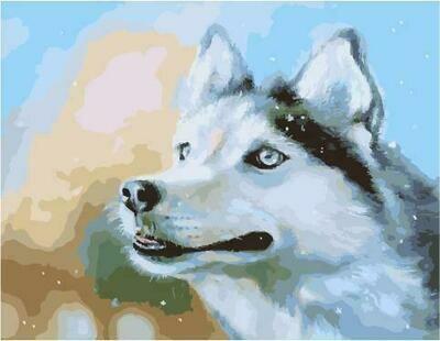 Картина по номерам PK 59006 Снежный/ Собака (Логинова Аннет) 40*50