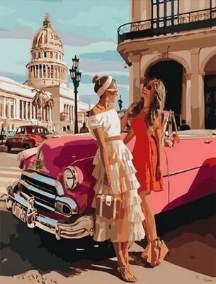 Картина по номерам Paintboy, RDG-4332 С подругой на Кубе 40х50см