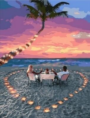Картина по номерам Paintboy, RDG-4329 Романтика на пляже 40х50см
