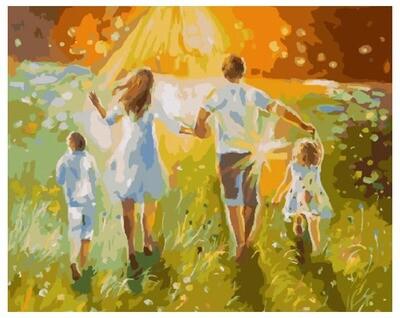 Картина по номерам PK 36001 Летняя прогулка с семьей 40*50