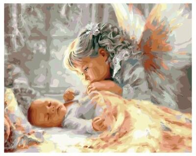 Картина по номерамPK 41070 Забота ангела 40x50 см