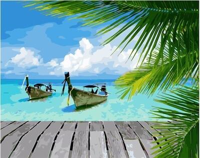 Картина по номерам GX 34092 Тайские лодки 40*50