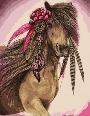 "Картина по номерам Paintboy RDG-3177 ""Гламурная лошадь"" 40х50см"