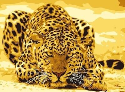 """Картина по номерам Paintboy G253 """"Леопард"""" 40х50см"""