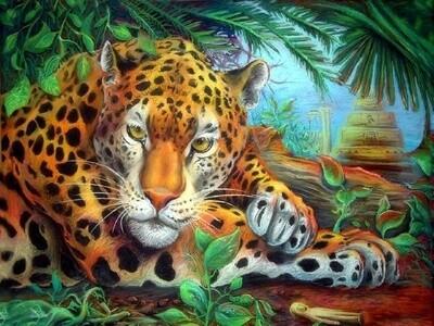 """Картина по номерам Paintboy GX21454 """"Бдительный леопард"""" 40х50см"""