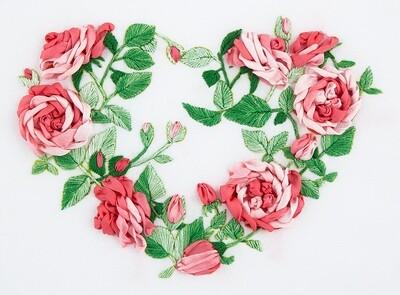 """Набор для вышивания """"PANNA"""" """"Живая картина"""" JK-2114 ( ЖК-2114 ) """"Сердце из роз"""""""
