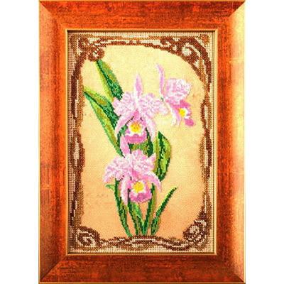 """Набор для вышивания """"Радуга бисера"""" №14 В-416 """"Грациозные орхидеи"""" 17 х 26 см"""