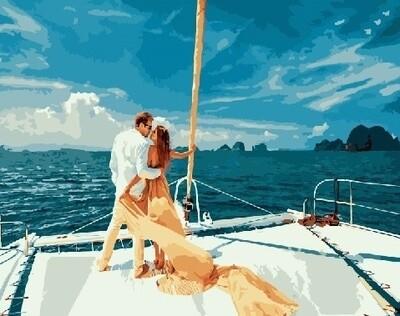 Картина по номерам Paintboy RDG-3096 Влюбленные на яхте 40х50 см