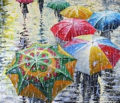 Картина по номерам Paintboy RDG-2609 Зонтики 40х50 см
