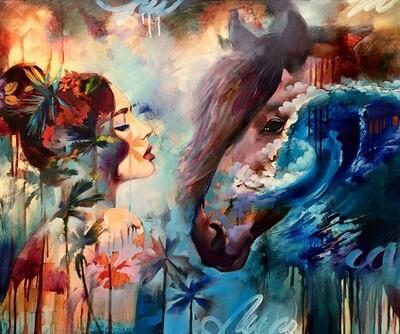 Картина по номерам Paintboy RDG-2680 Женщина и лошадь 40х50 см