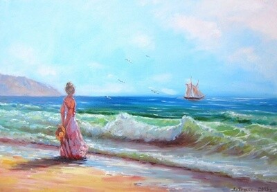 Картина по номерам Paintboy RDG-2546 В ожидании 40х50 см