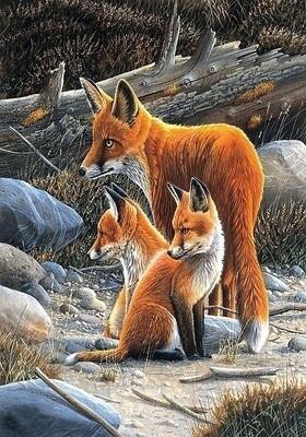 "Картина по номерам Paintboy RDG-2455 ""Лисье семейство"" 40х50см"