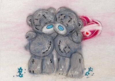 Картина из шерсти MTY-WA-0158