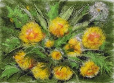 Картина из шерсти WA-0125