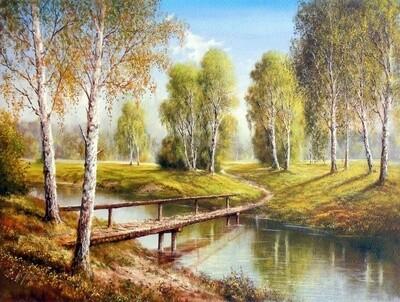 Картина по номерам 40х50см - Деревянный мост