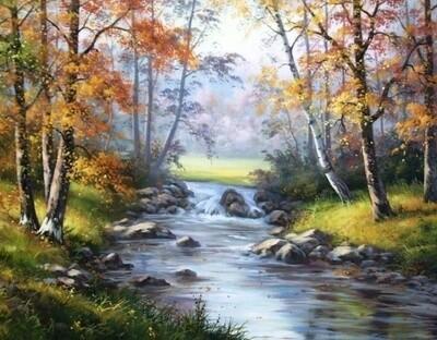 Картина по номерам 40х50см - Лесной ручей
