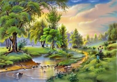 Картина по номерам 40х50см - Высыхающая река