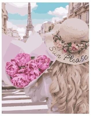 Картина по номерам PK 24038 (GX 28145) Нежность в Париже 40*50