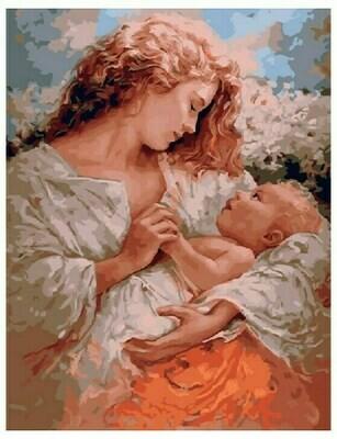 Живопись на холсте Paintboy Original, 40х50 см, Мать и малютка GX5743