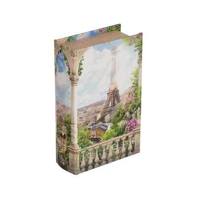 "BBK-01 шкатулка-книга 17 x 11 x 5 см, №091 ""Панорама Парижа"""