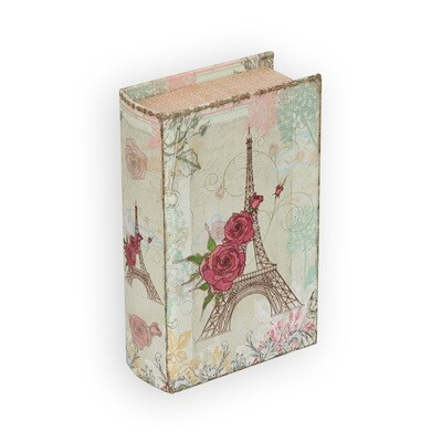 "BBK-01 шкатулка-книга 17 x 11 x 5 см, №077 ""Цветы в Париже"""