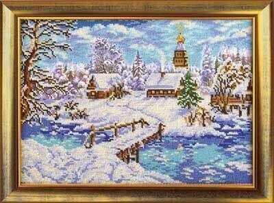 """Набор для вышивания """"Радуга бисера"""" №08 В-240 """"Рождественская сказка"""" 27 х 38 см"""