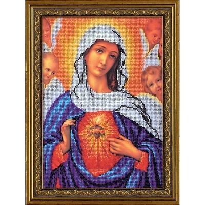 """Набор для вышивания """"Радуга бисера"""" №05 В-192 """"Дева Мария"""" 19 х 27 см"""