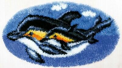 """Набор для вышивания """"PANNA"""" KI-1495 (КИ-1495) """"Коврик Дельфины"""""""