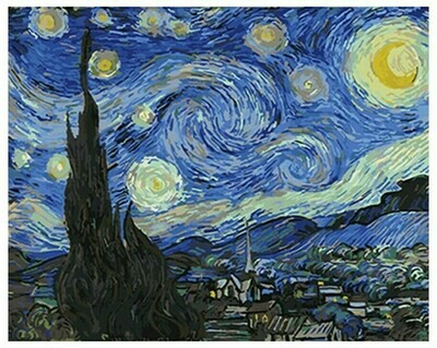 Картина по номерам GX 4756 Звездная ночь (Ван Гог) 40*50