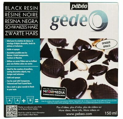 Эпоксидная черная смола Gedeo 150 мл