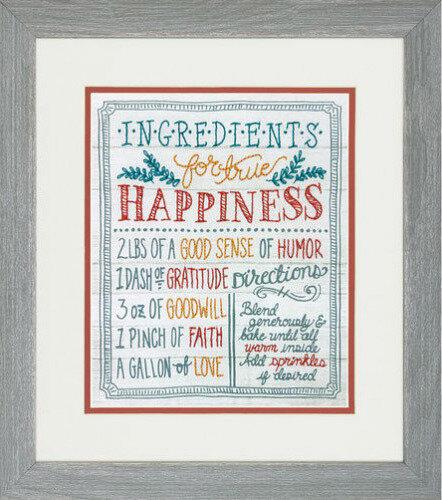 """Набор для вышивания """"DIMENSIONS"""" 71-01569 """"Ингредиенты для счастья""""25 x 20 см"""