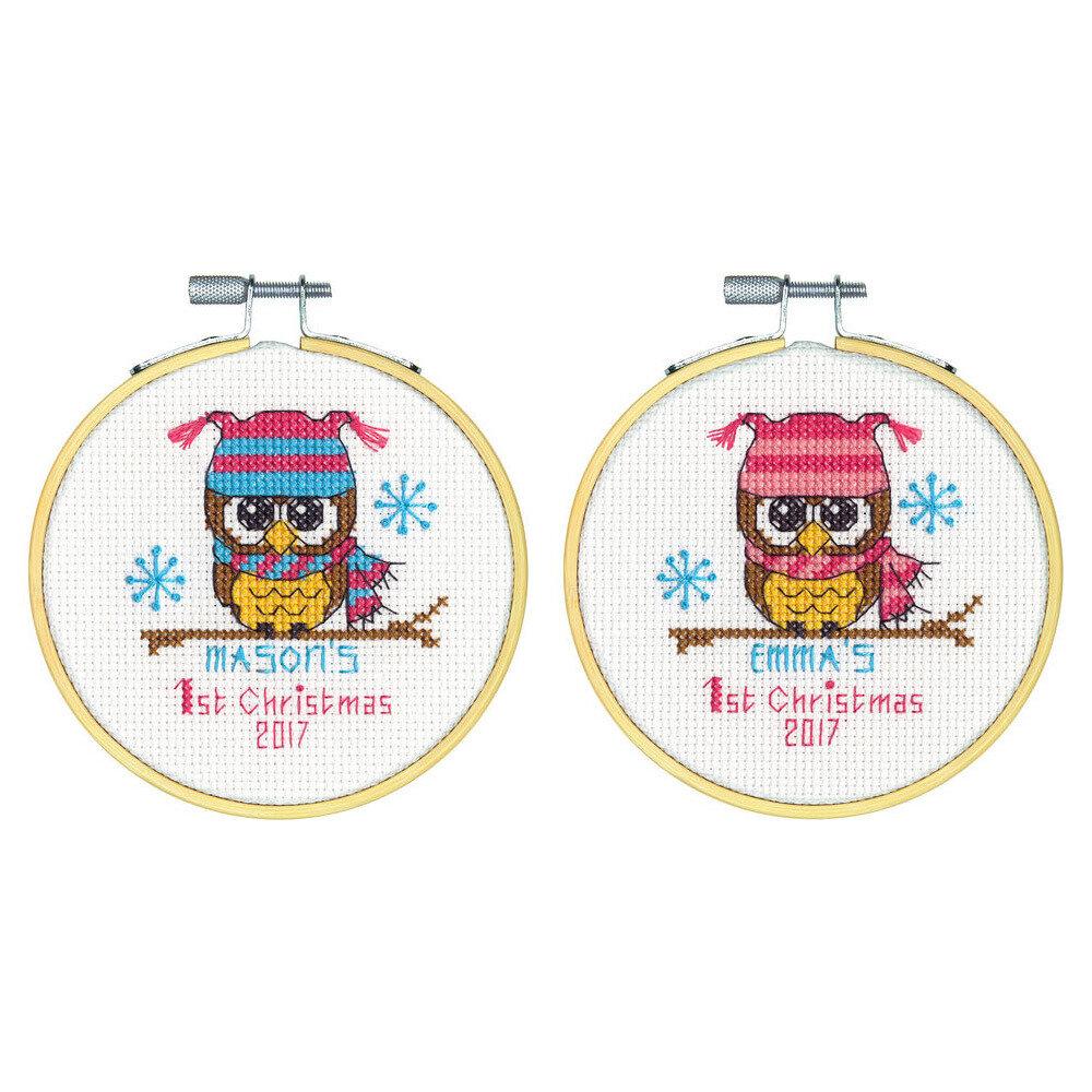 """Набор для вышивания """"DIMENSIONS"""" 70-08965 """"Первое рождество""""10 х 10 см"""