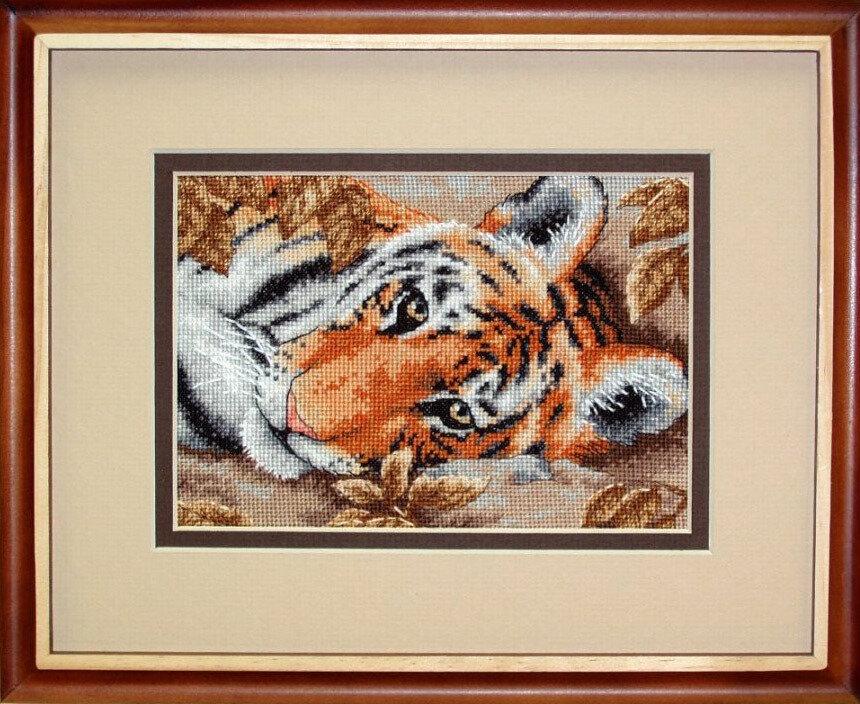 """Набор для вышивания """"DIMENSIONS"""" 65056 """"Привлекательный тигр""""17 х 12 см"""