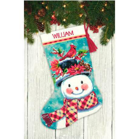 """Набор для вышивания """"DIMENSIONS"""" 71-09159 """"Новогодний носок от Снеговика"""" 71-09159 """"Новогодний носок от Снеговика"""""""