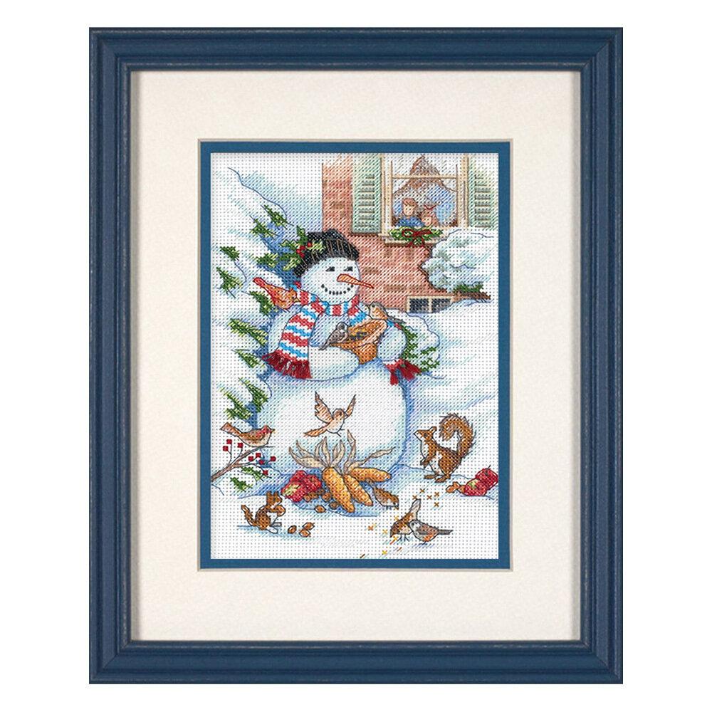 """Набор для вышивания """"DIMENSIONS"""" 08801 """"Снеговик и друзья""""13 x 18 см"""