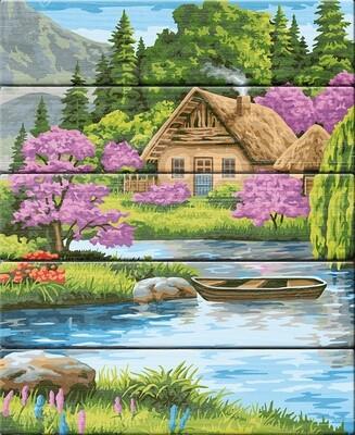 """Картина по номерам по дереву """"Тихая обитель"""", 40х50см, ФРЕЯ, PKW-1 69"""