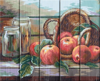 "Картина по номерам по дереву ""Натюрморт с яблоками. Жанна Когай"", 40х50см, ФРЕЯ, PKW-1 56"