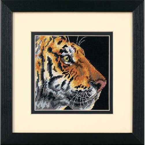 """Набор для вышивания """"DIMENSIONS"""" 07225 """"Профиль тигра"""", 13х13см"""
